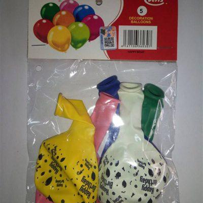Happy Bday 5s Balloons