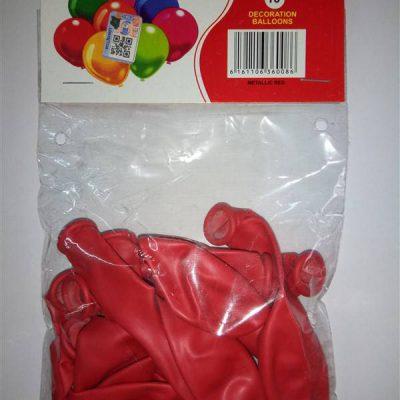 Metallic Red 10s Balloons