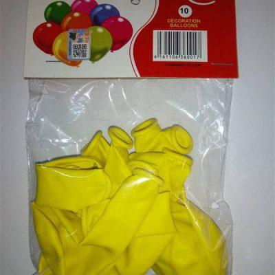 Standard Yellow 10's Balloons